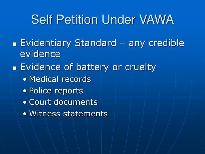 Self Petition Under VAWA