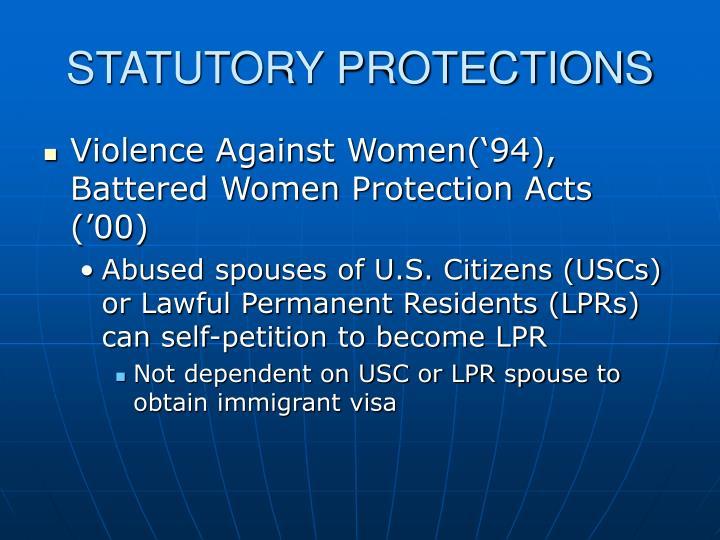 STATUTORY PROTECTIONS