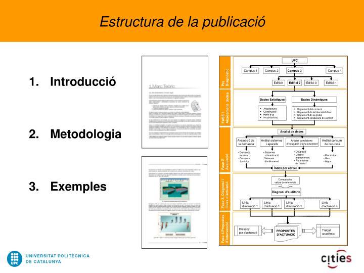 Estructura de la publicació