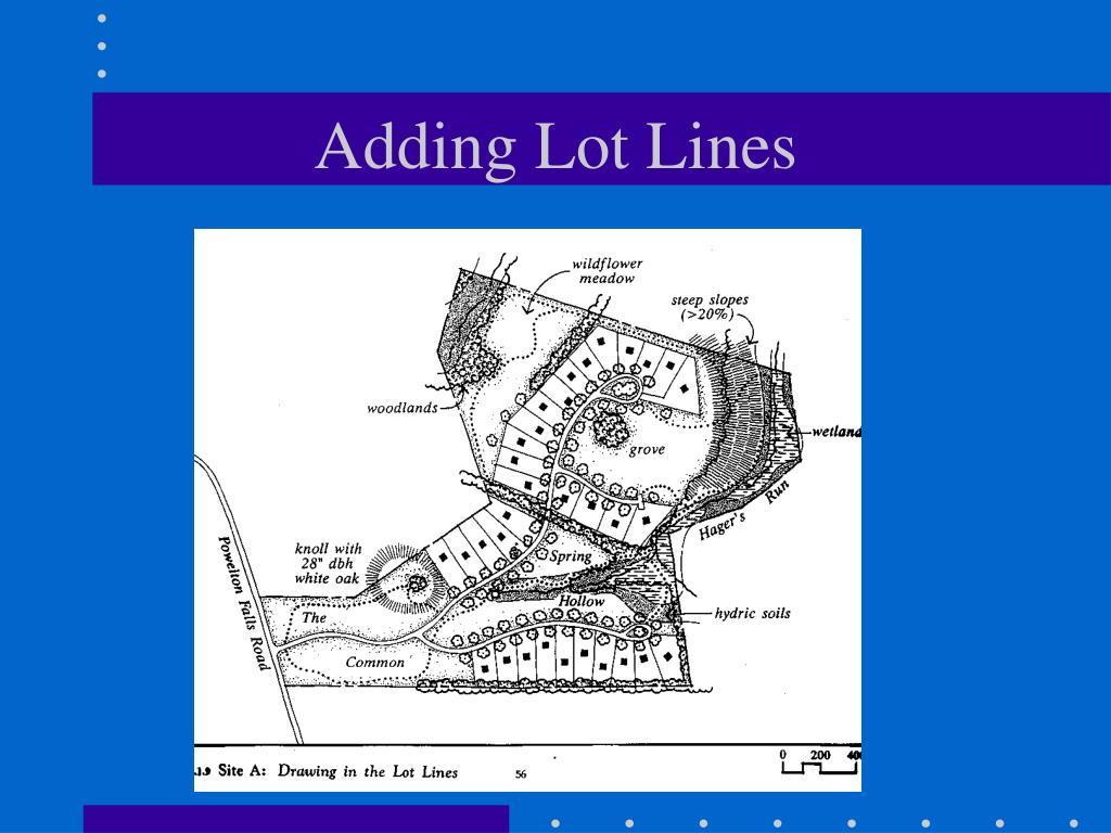 Adding Lot Lines