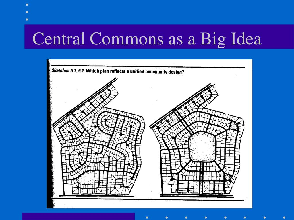 Central Commons as a Big Idea