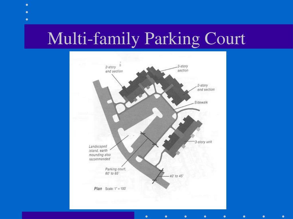 Multi-family Parking Court