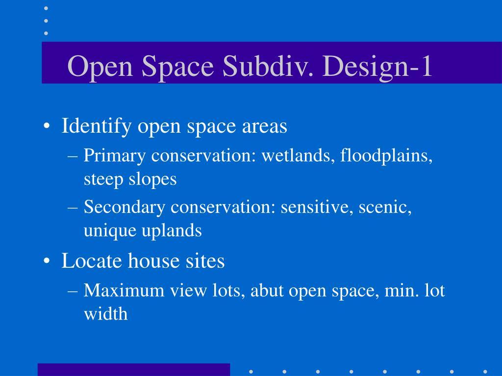Open Space Subdiv. Design-1