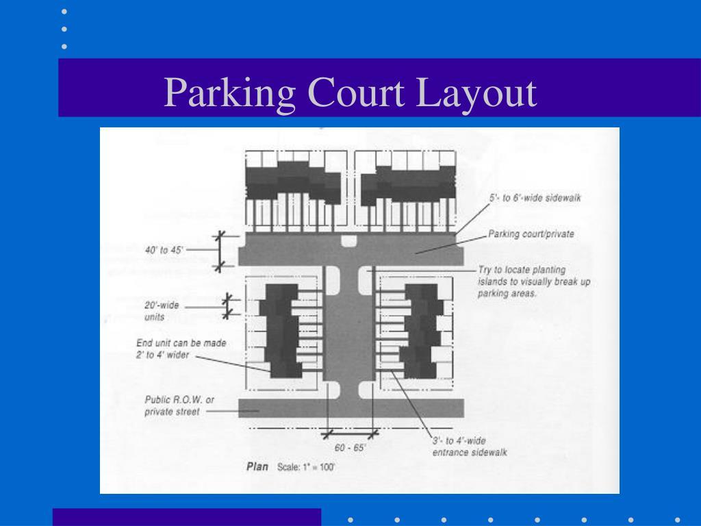 Parking Court Layout