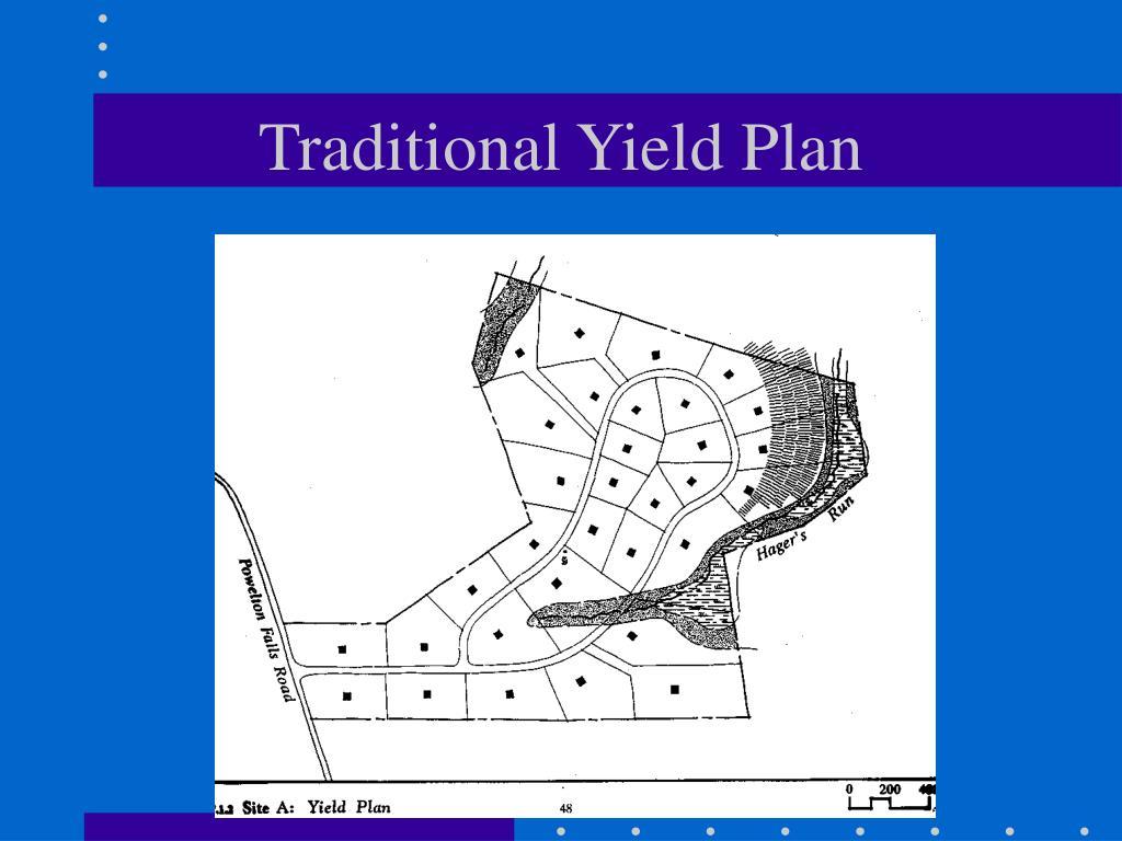 Traditional Yield Plan