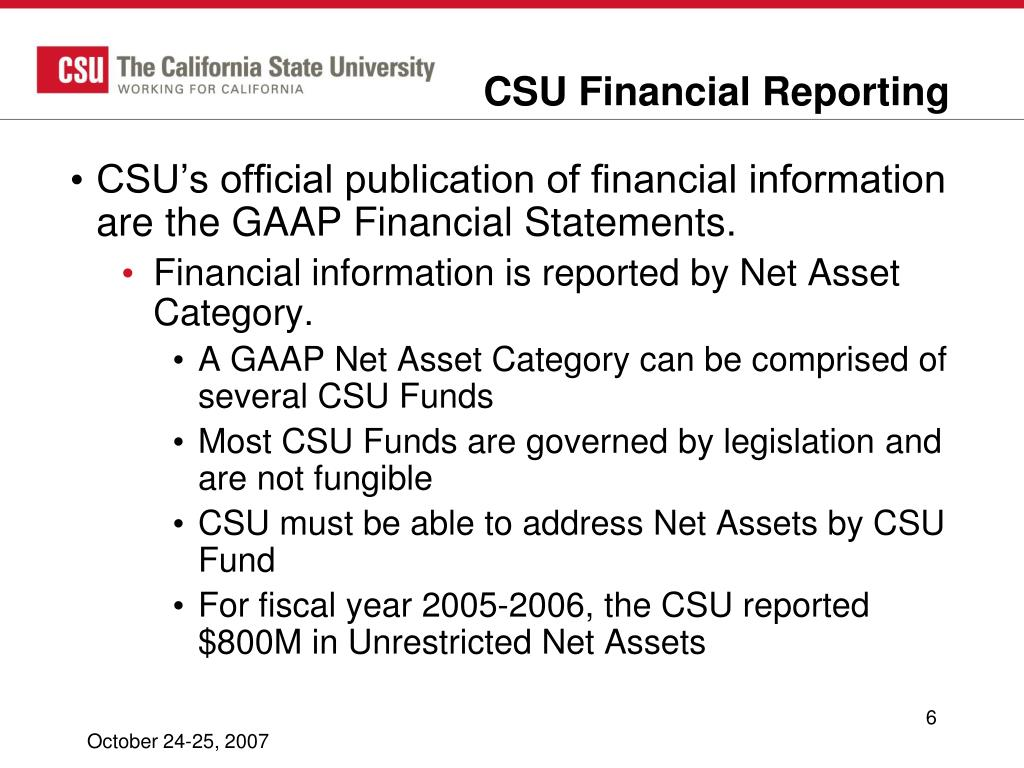 CSU Financial Reporting