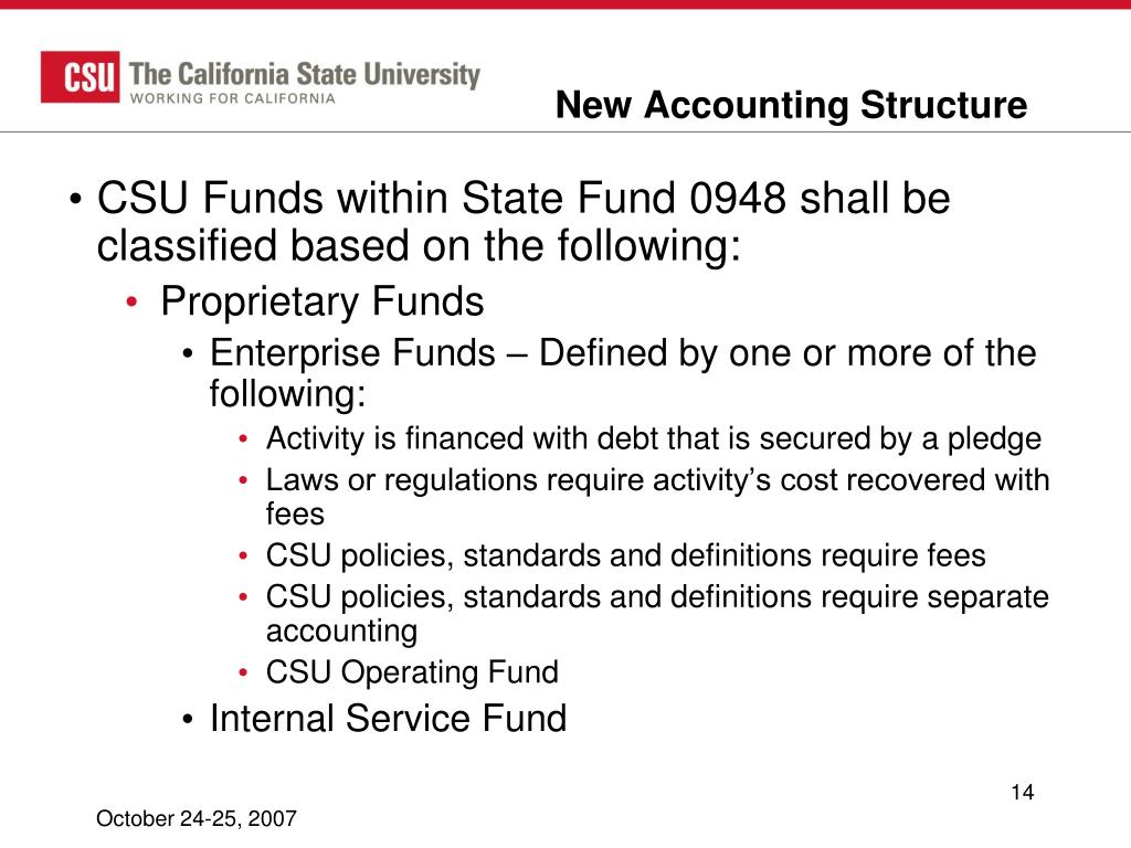 New Accounting Structure