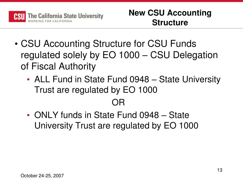 New CSU Accounting Structure