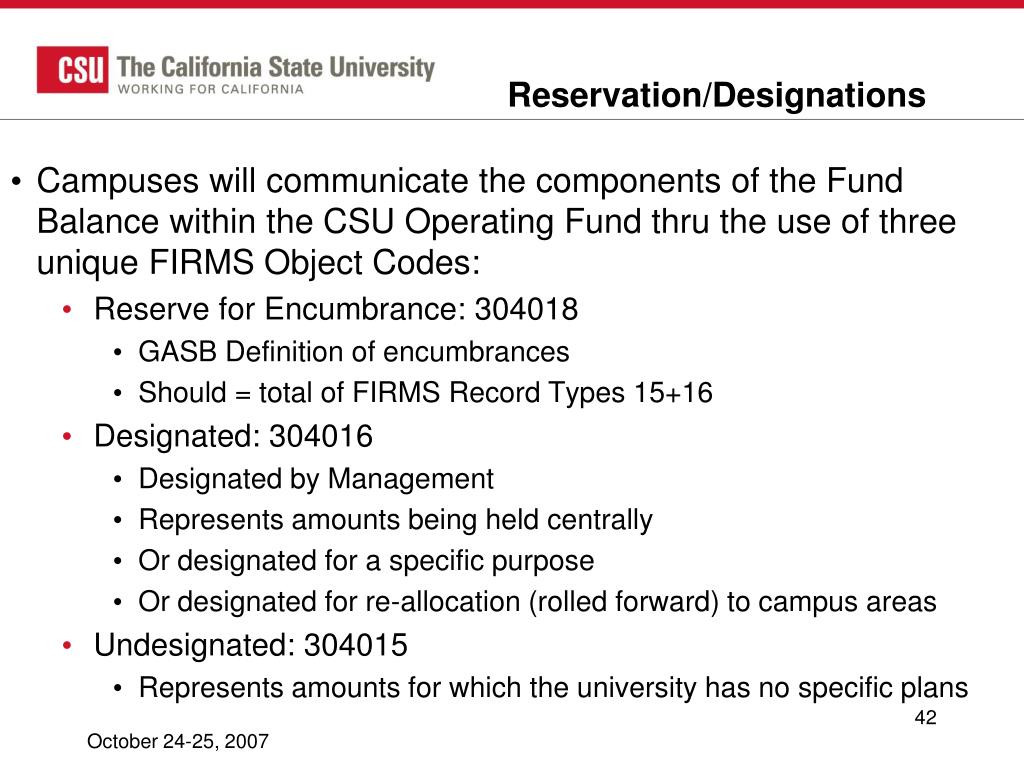 Reservation/Designations