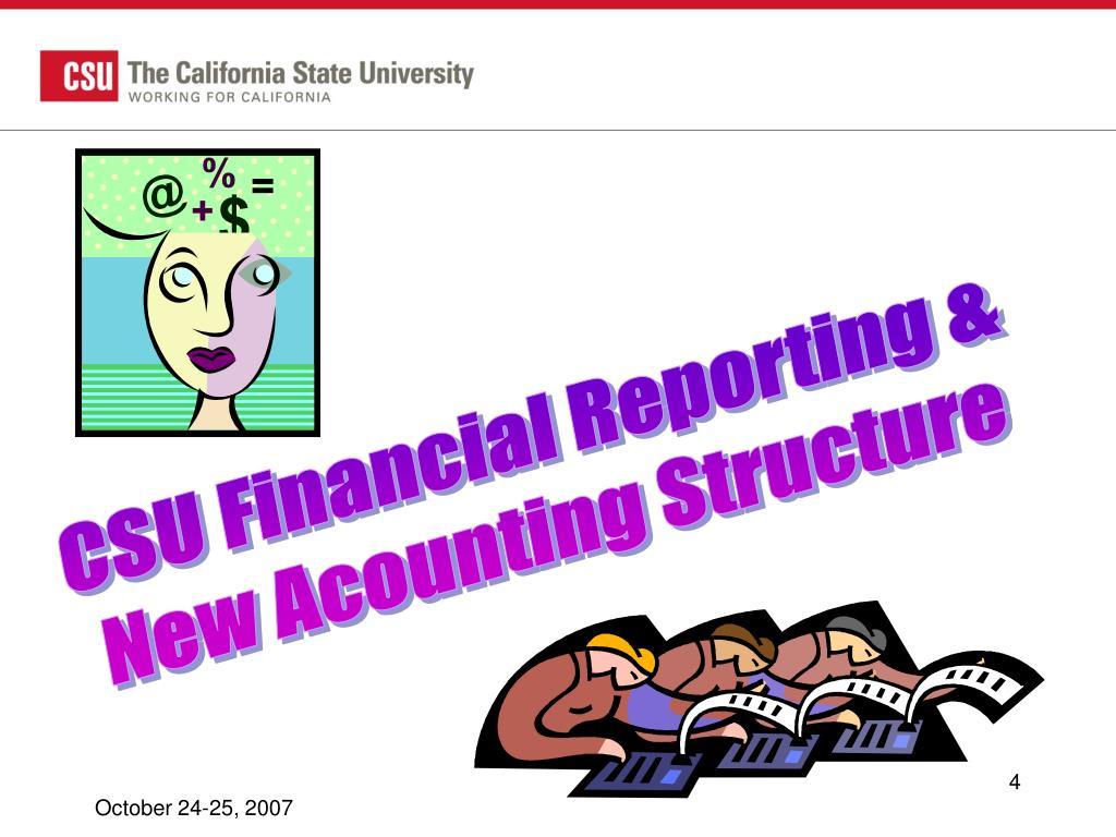 CSU Financial Reporting &