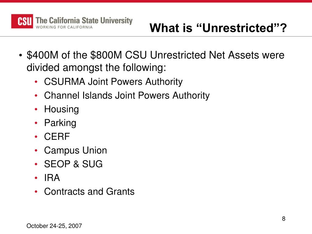 """What is """"Unrestricted""""?"""