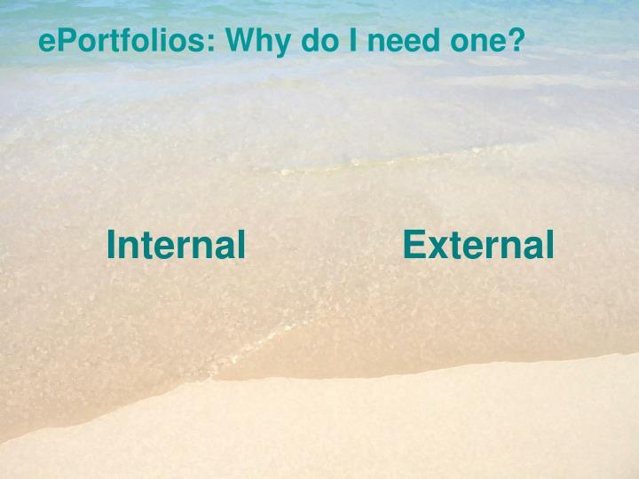 ePortfolios: Why do I need one?