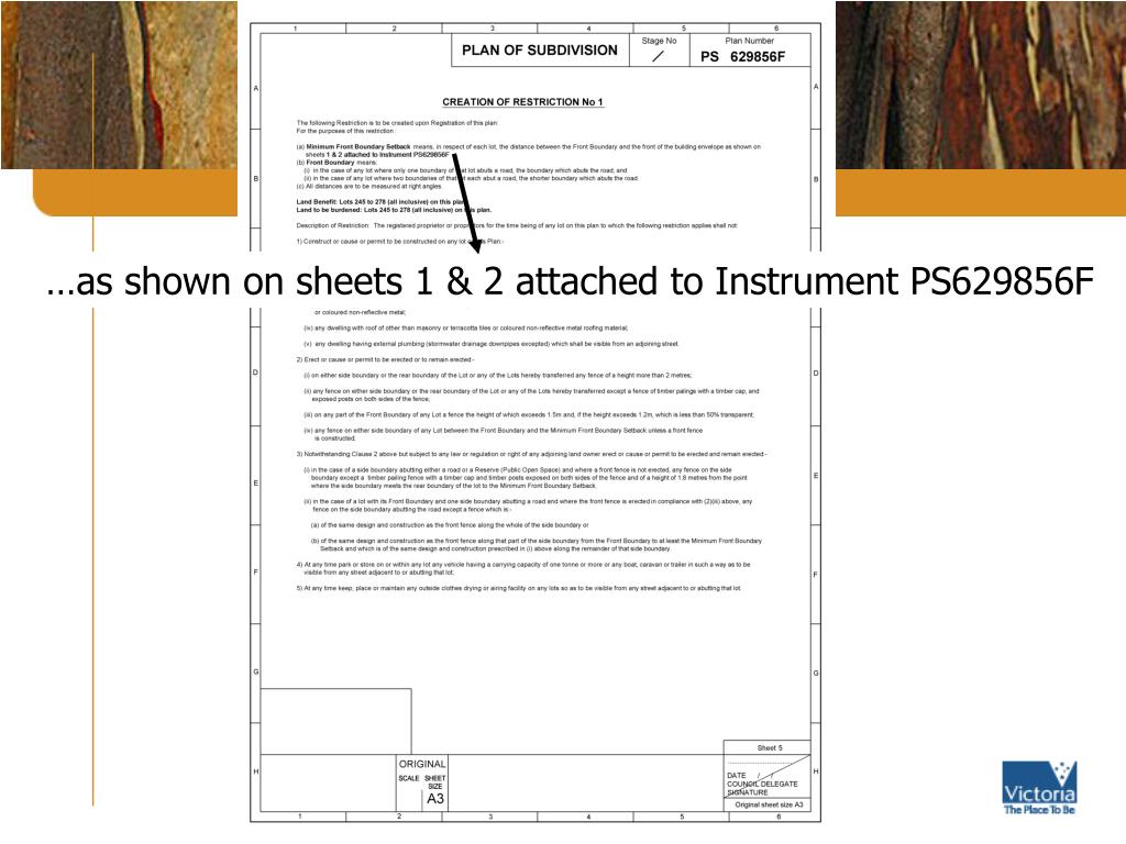…as shown on sheets 1 & 2 attached to Instrument PS629856F