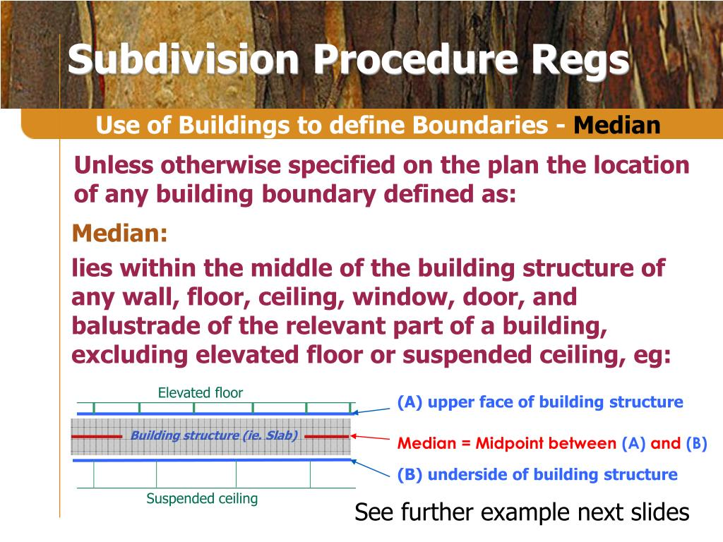 Subdivision Procedure Regs