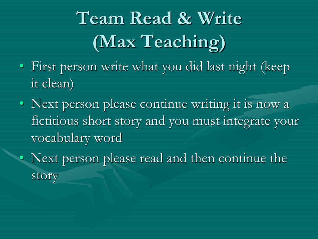 Team Read & Write