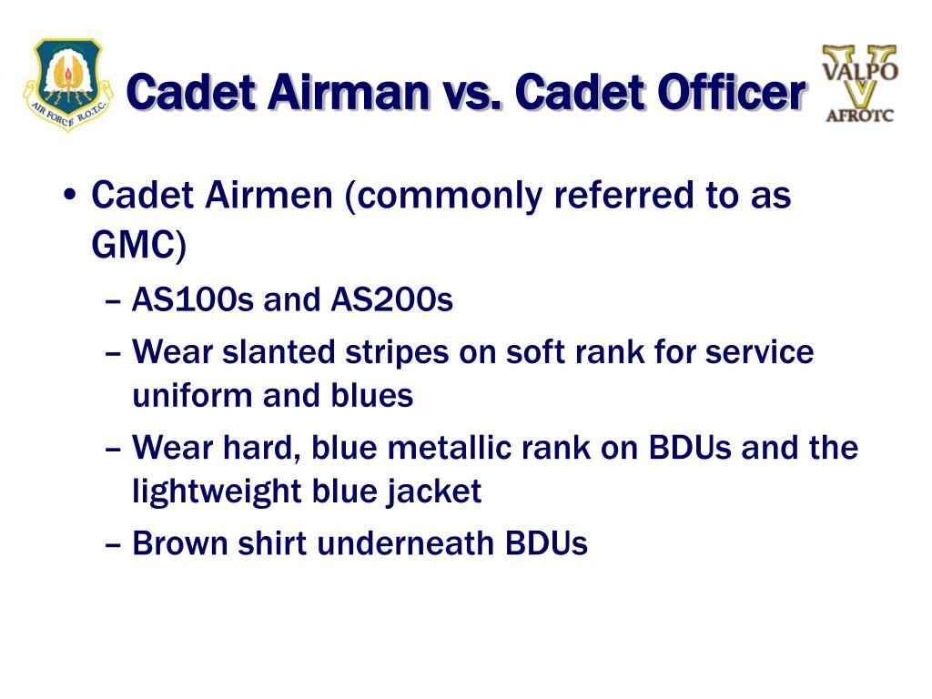 Cadet Airman vs. Cadet Officer
