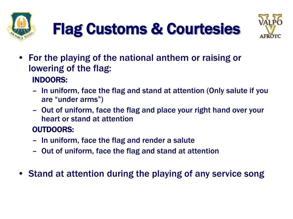 Flag Customs & Courtesies
