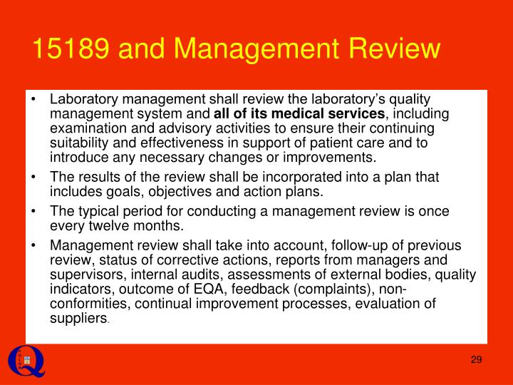 15189 and Management Review