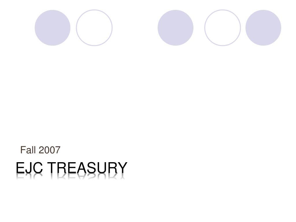 EJC treasury