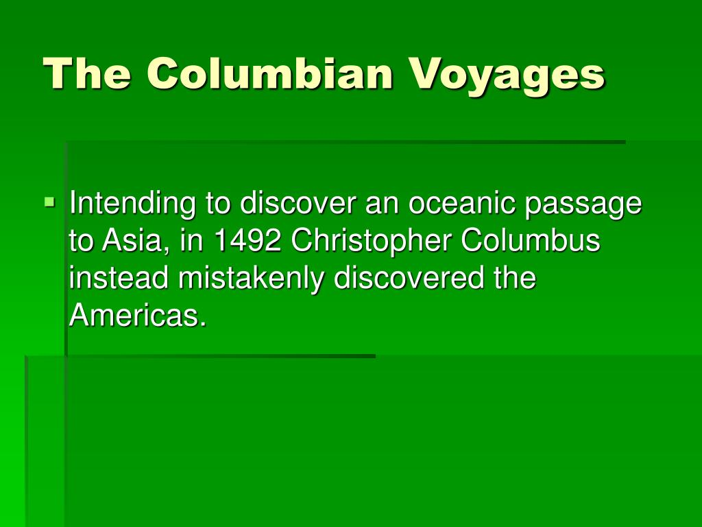 The Columbian Voyages