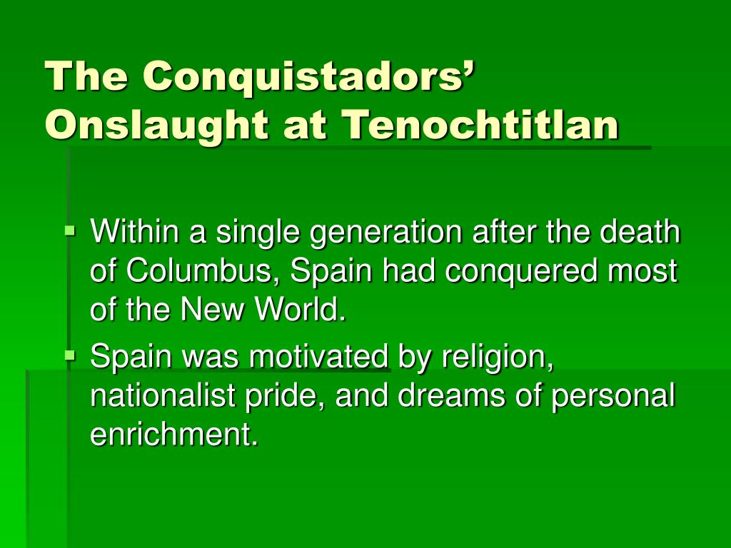 The Conquistadors' Onslaught at Tenochtitlan