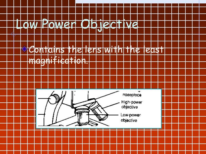 Low Power Objective