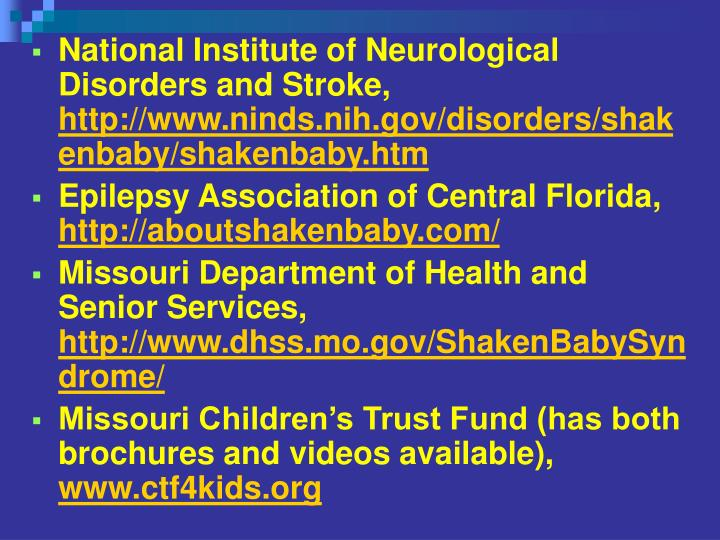 National Institute of Neurological Disorders and Stroke,