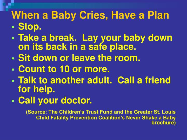 When a Baby Cries, Have a Plan