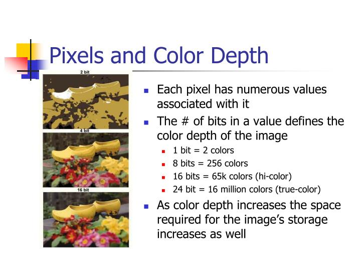Pixels and Color Depth