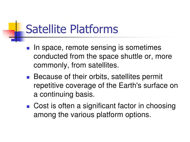 Satellite Platforms