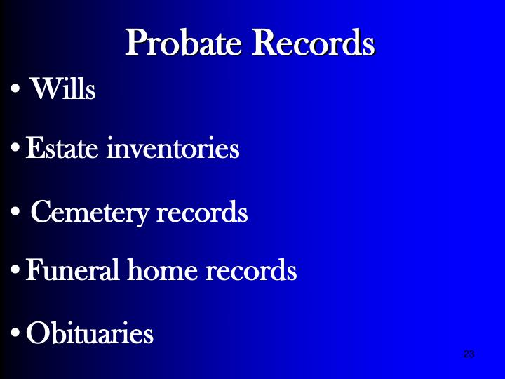 Probate Records