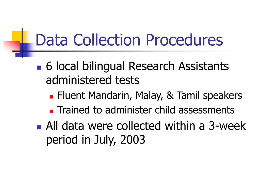 Data Collection Procedures