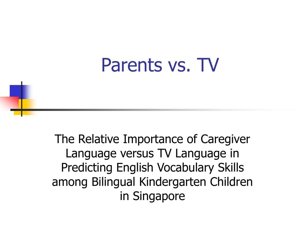Parents vs. TV