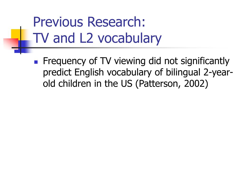 Previous Research: