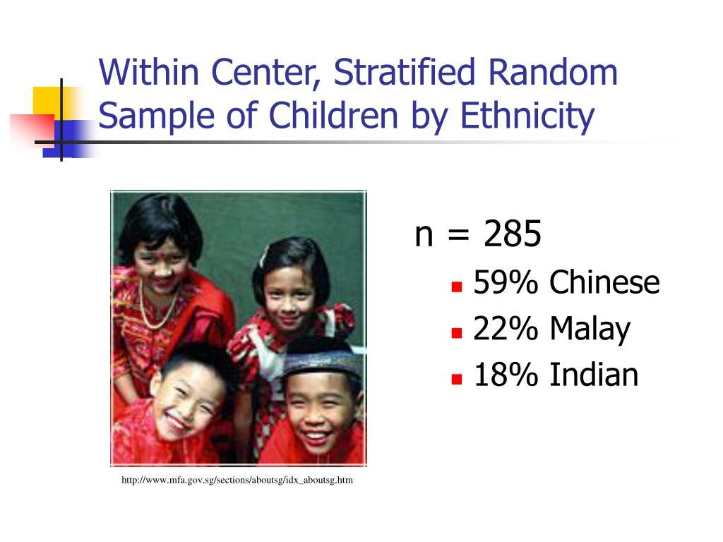 Within Center, Stratified Random Sample of Children by Ethnicity