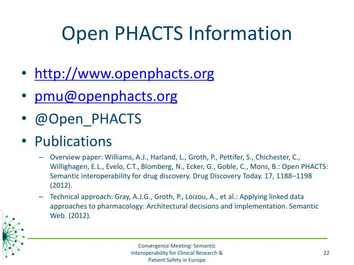 Open PHACTS Information