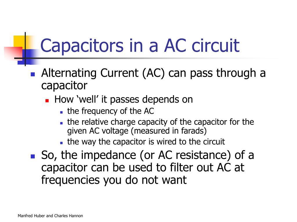 Capacitors in a AC circuit