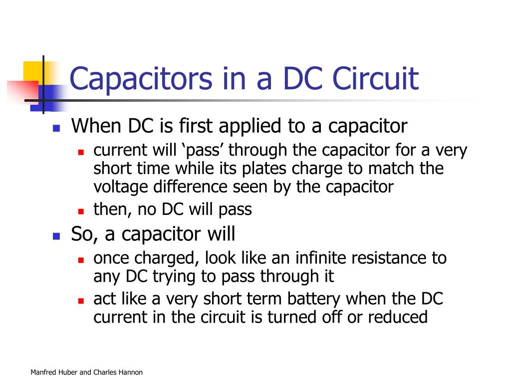 Capacitors in a DC Circuit