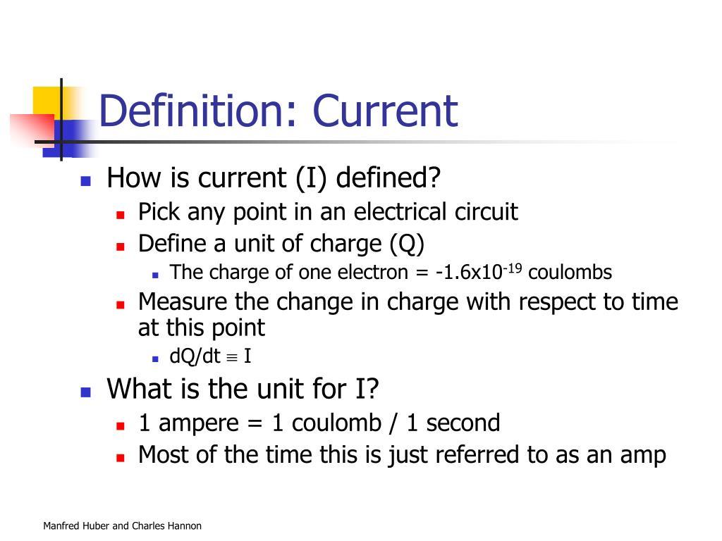 Definition: Current