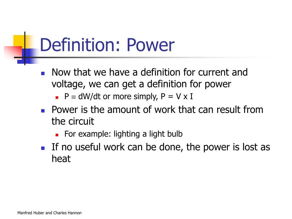 Definition: Power
