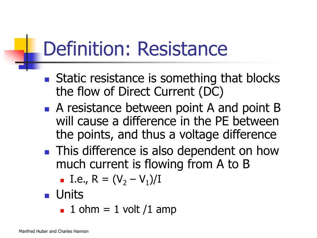 Definition: Resistance