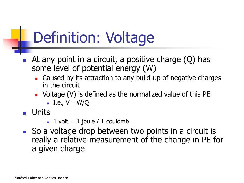 Definition: Voltage