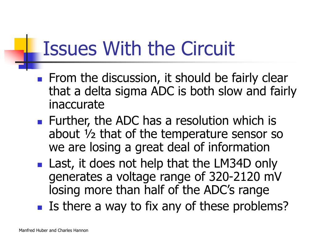 Issues With the Circuit