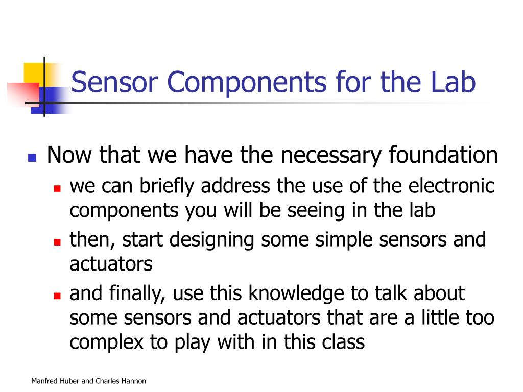Sensor Components for the Lab