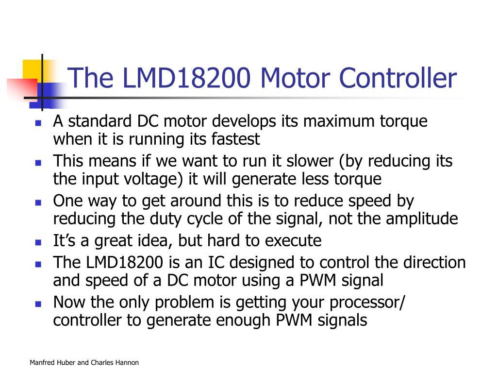 The LMD18200 Motor Controller