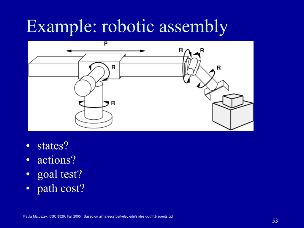 Example: robotic assembly