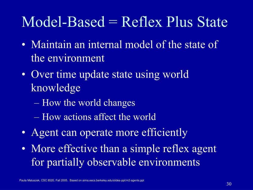 Model-Based = Reflex Plus State