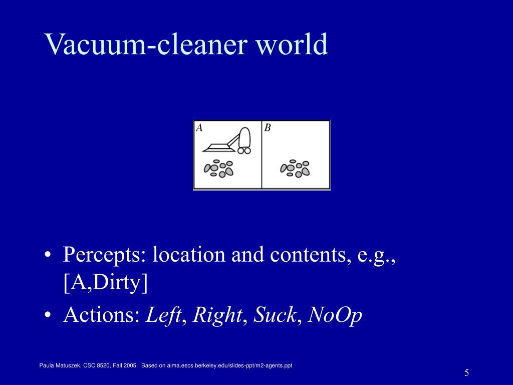 Vacuum-cleaner world