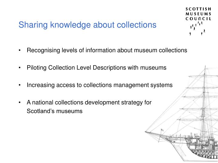 Sharing knowledge about collections