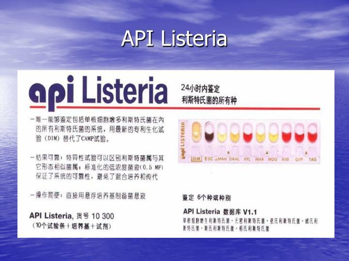 API Listeria